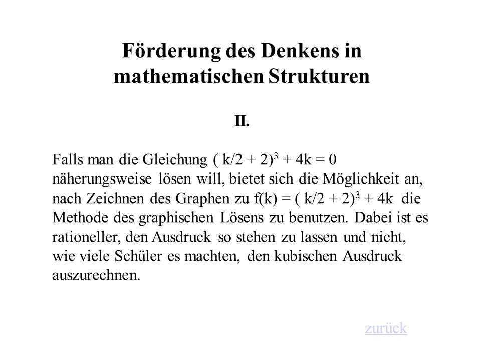 Förderung des Denkens in mathematischen Strukturen