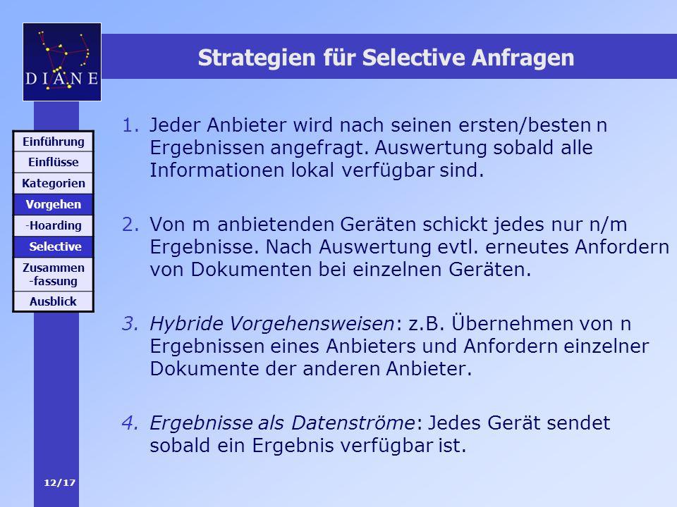 Strategien für Selective Anfragen