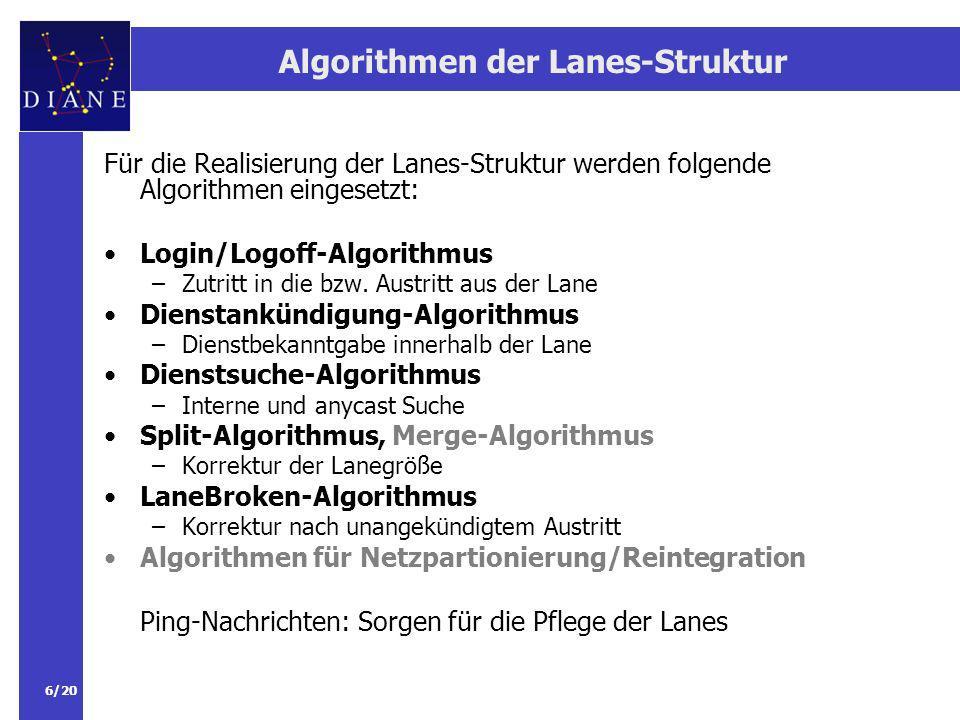 Algorithmen der Lanes-Struktur