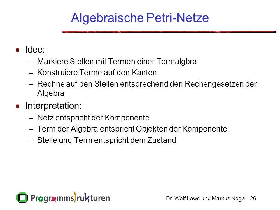 Algebraische Petri-Netze