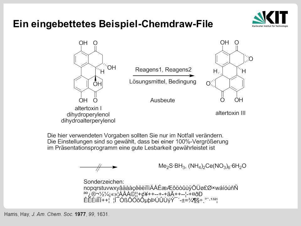 Ein eingebettetes Beispiel-Chemdraw-File