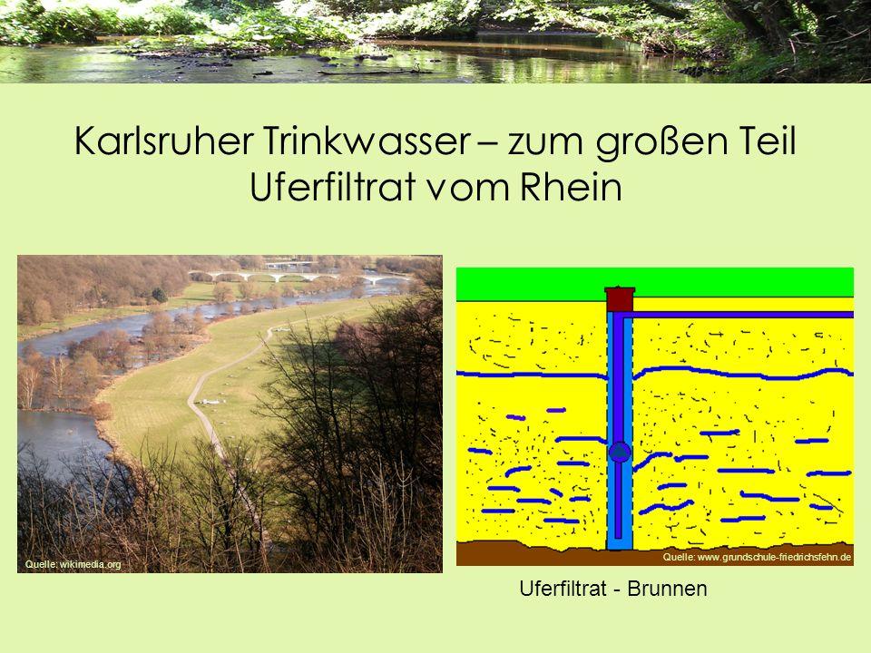 Karlsruher Trinkwasser – zum großen Teil Uferfiltrat vom Rhein