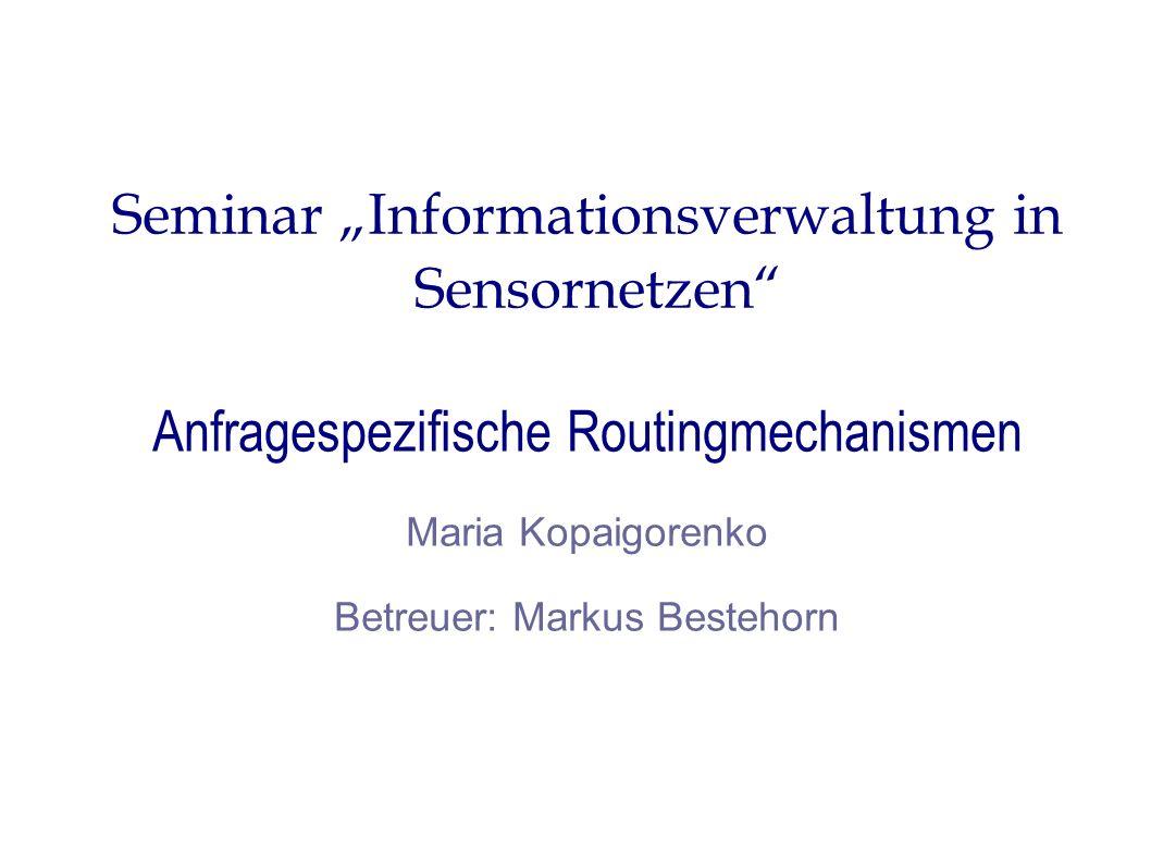 """Seminar """"Informationsverwaltung in Sensornetzen"""