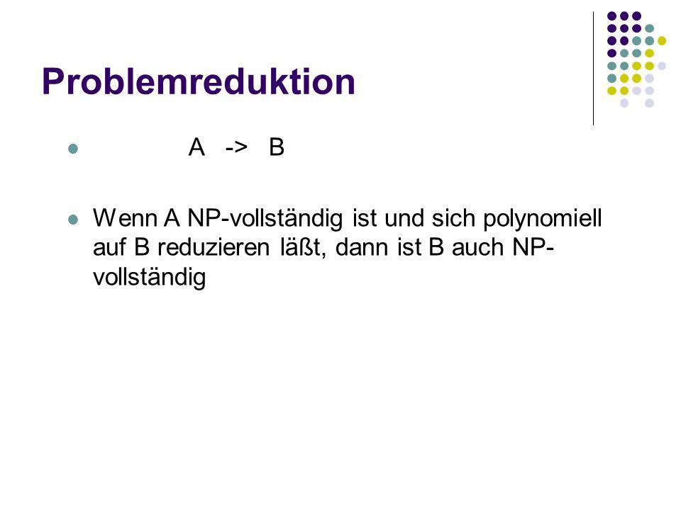Problemreduktion A -> B