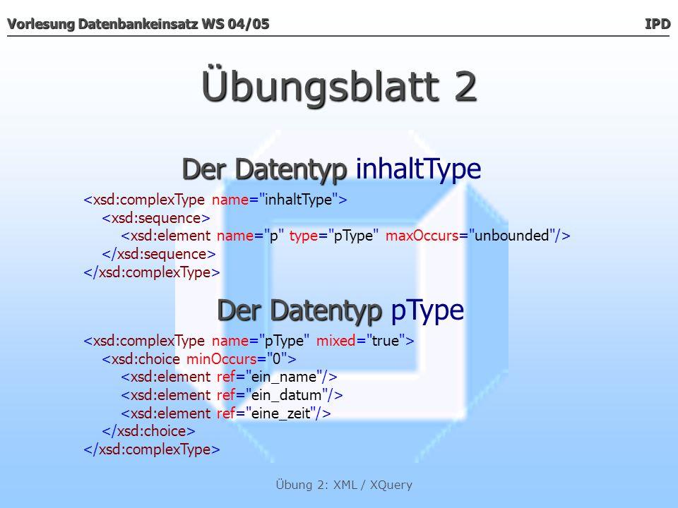 Der Datentyp inhaltType