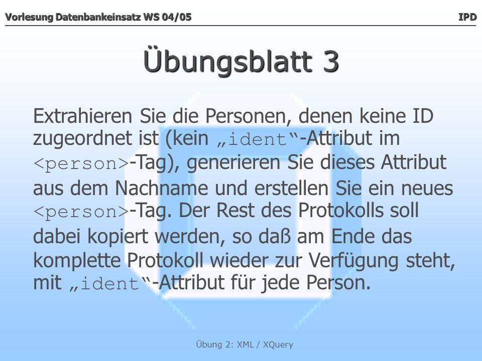 Übungsblatt 3