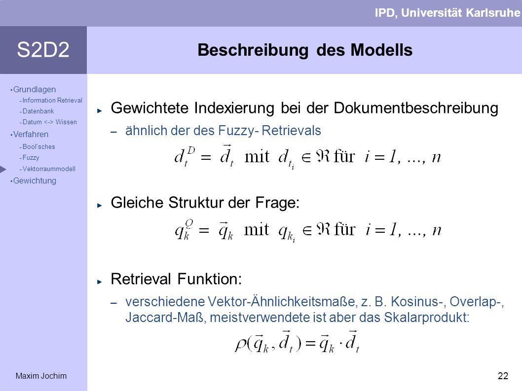 Beschreibung des Modells