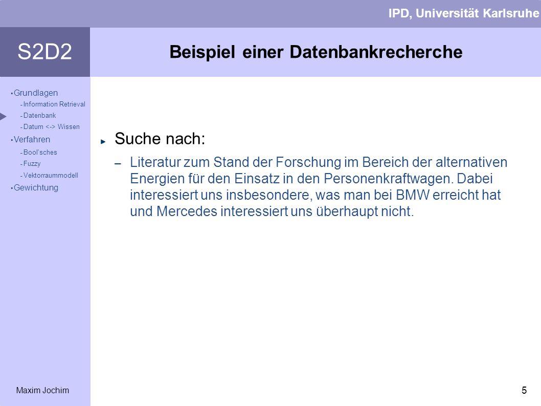 Beispiel einer Datenbankrecherche
