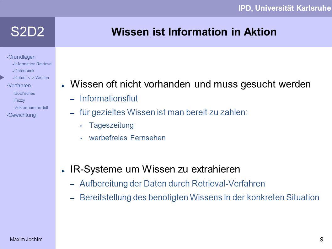Wissen ist Information in Aktion