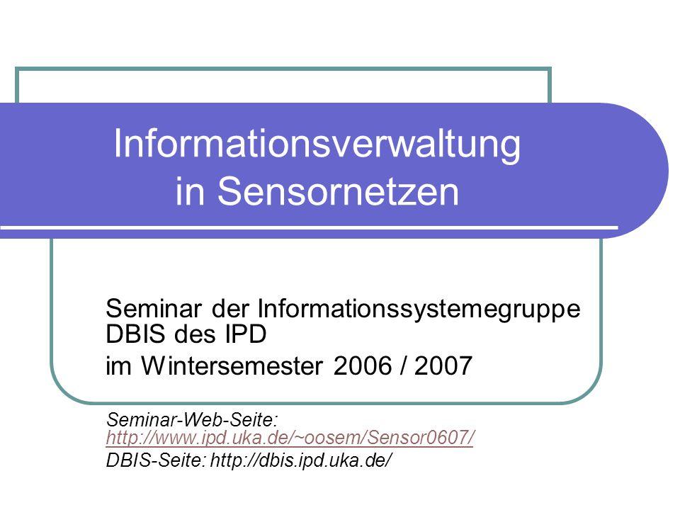 Informationsverwaltung in Sensornetzen