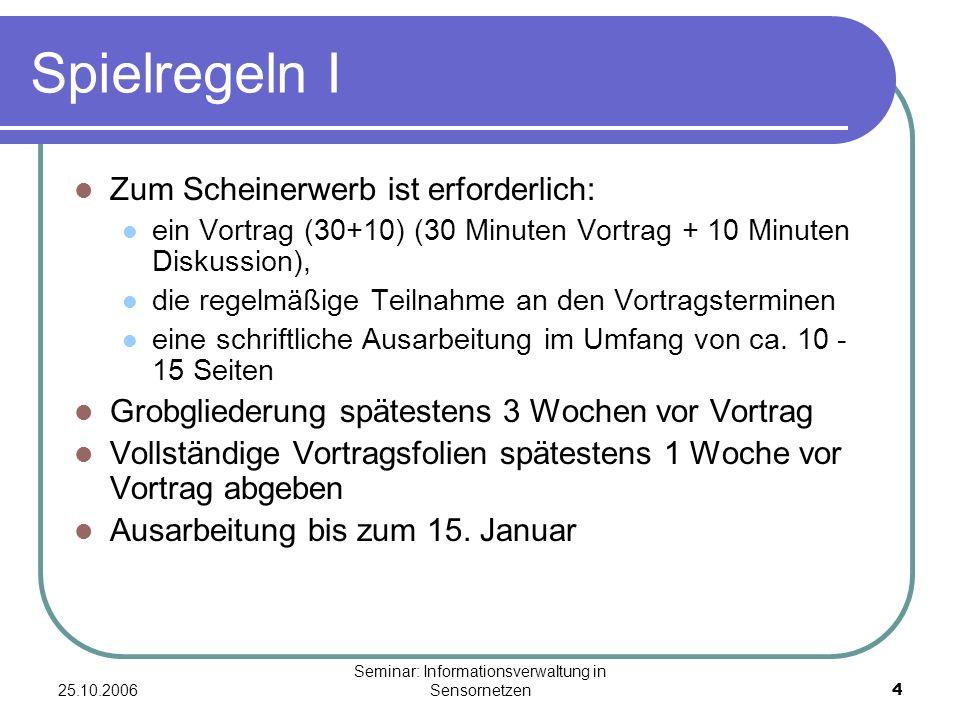 Seminar: Informationsverwaltung in Sensornetzen