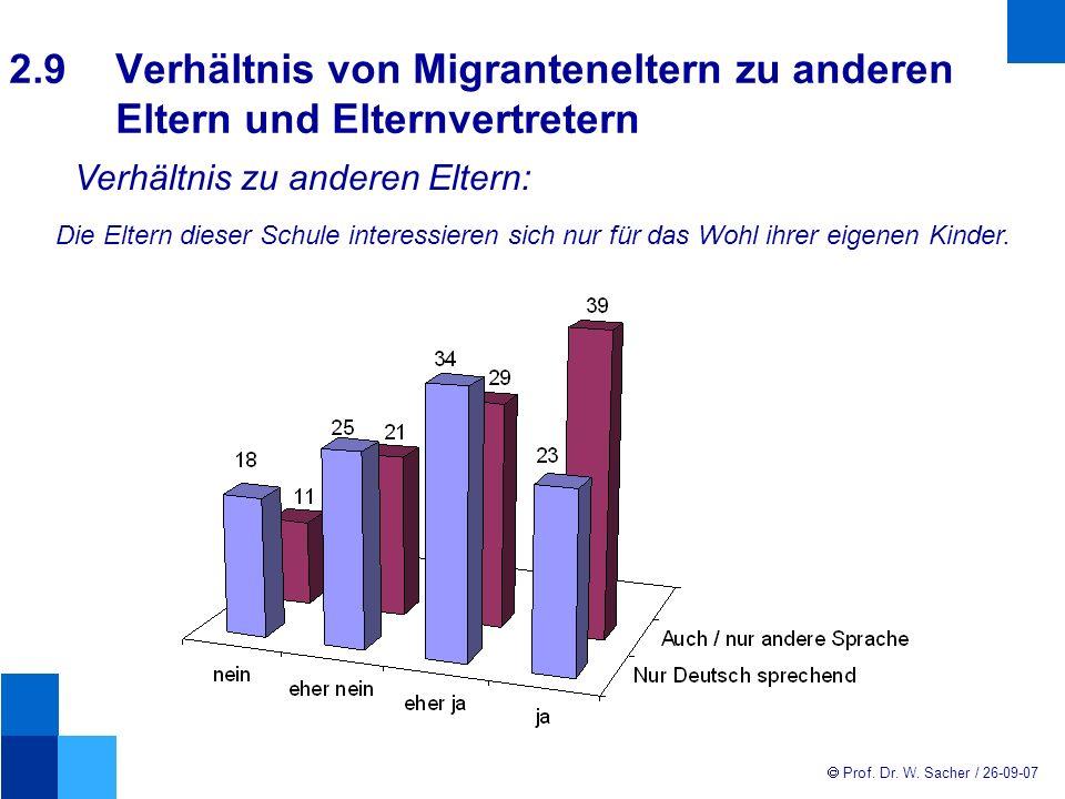2. 9. Verhältnis von Migranteneltern zu anderen