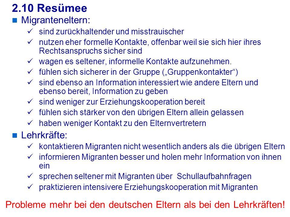 2.10 Resümee Migranteneltern: Lehrkräfte: