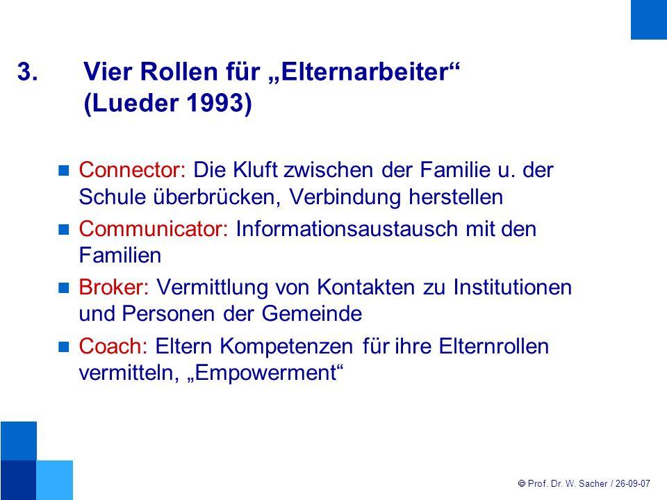 """3. Vier Rollen für """"Elternarbeiter (Lueder 1993)"""