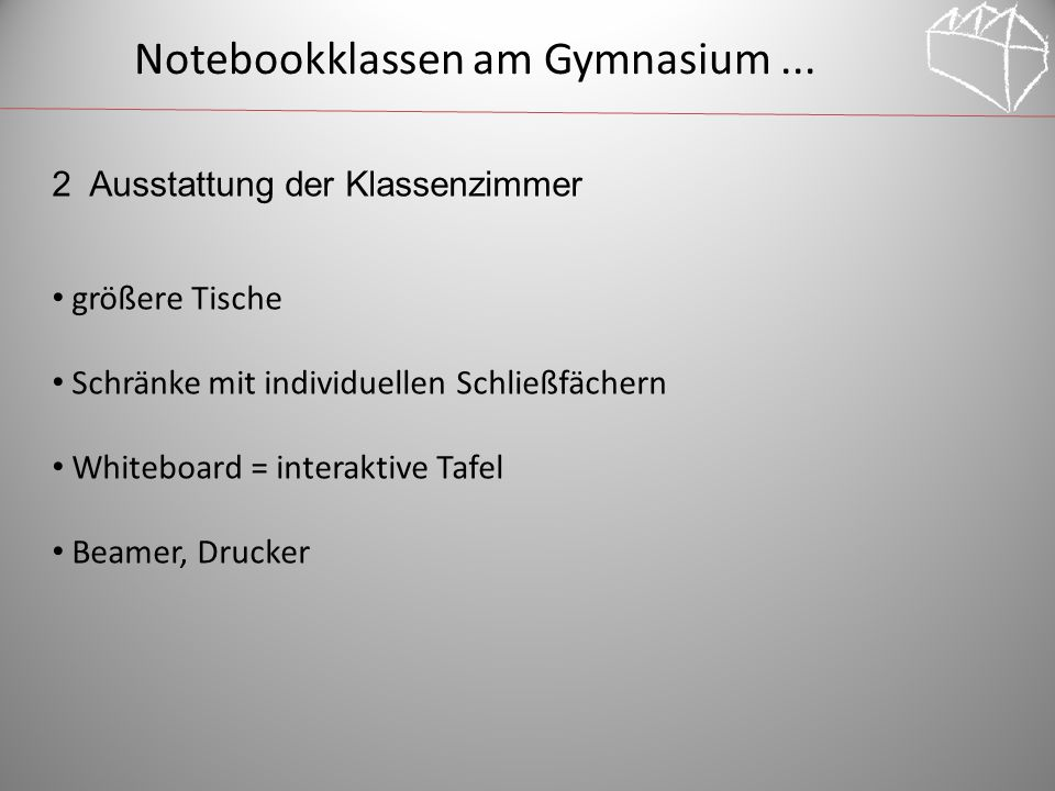 Notebookklassen am Gymnasium ...