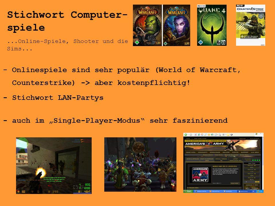 Stichwort Computer-spiele
