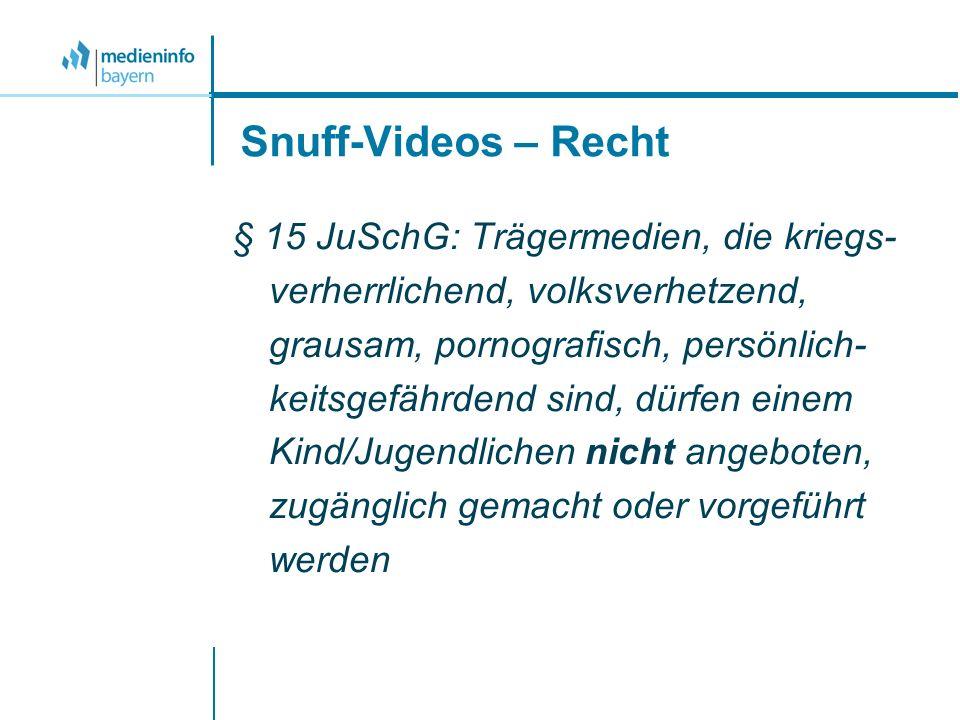 Snuff-Videos – Recht