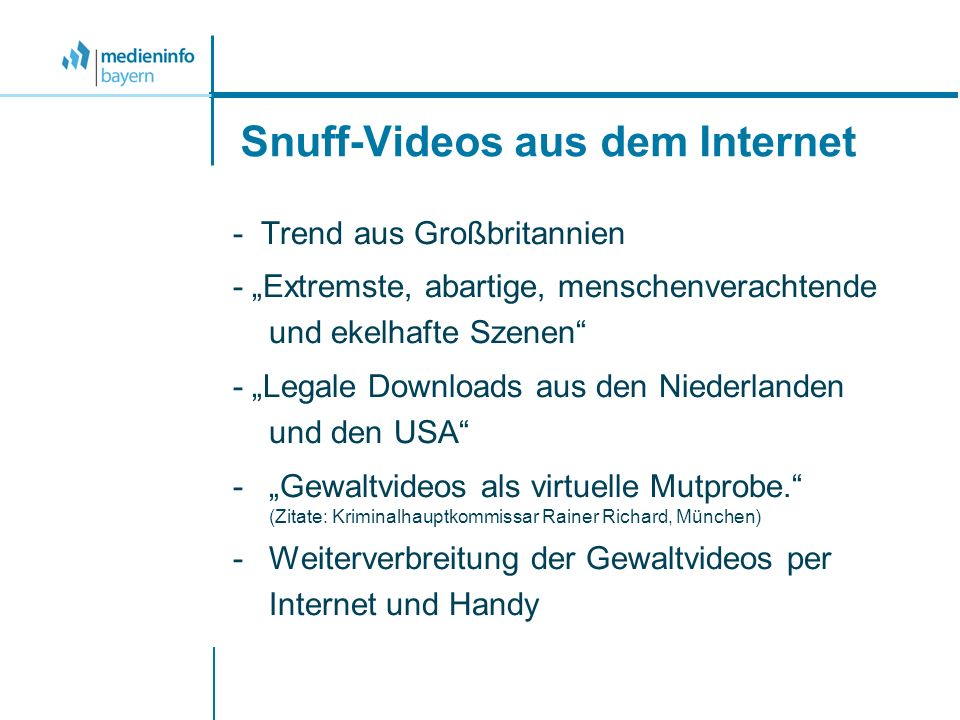 Snuff-Videos aus dem Internet