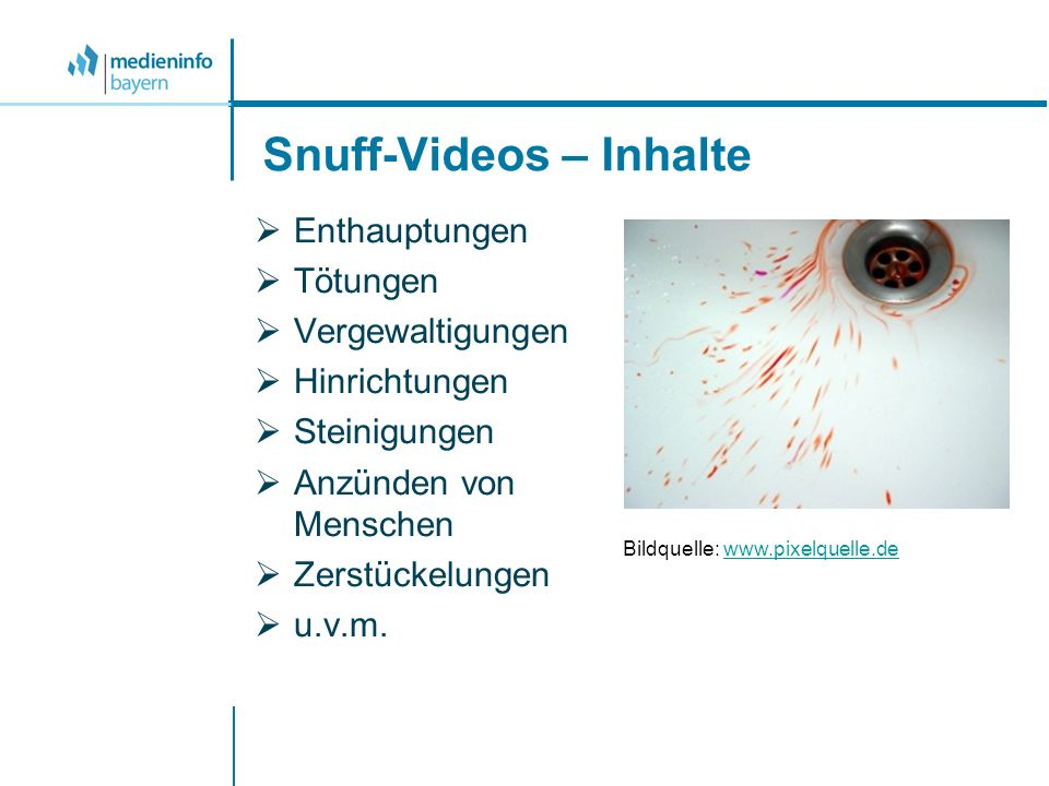 Snuff-Videos – Inhalte