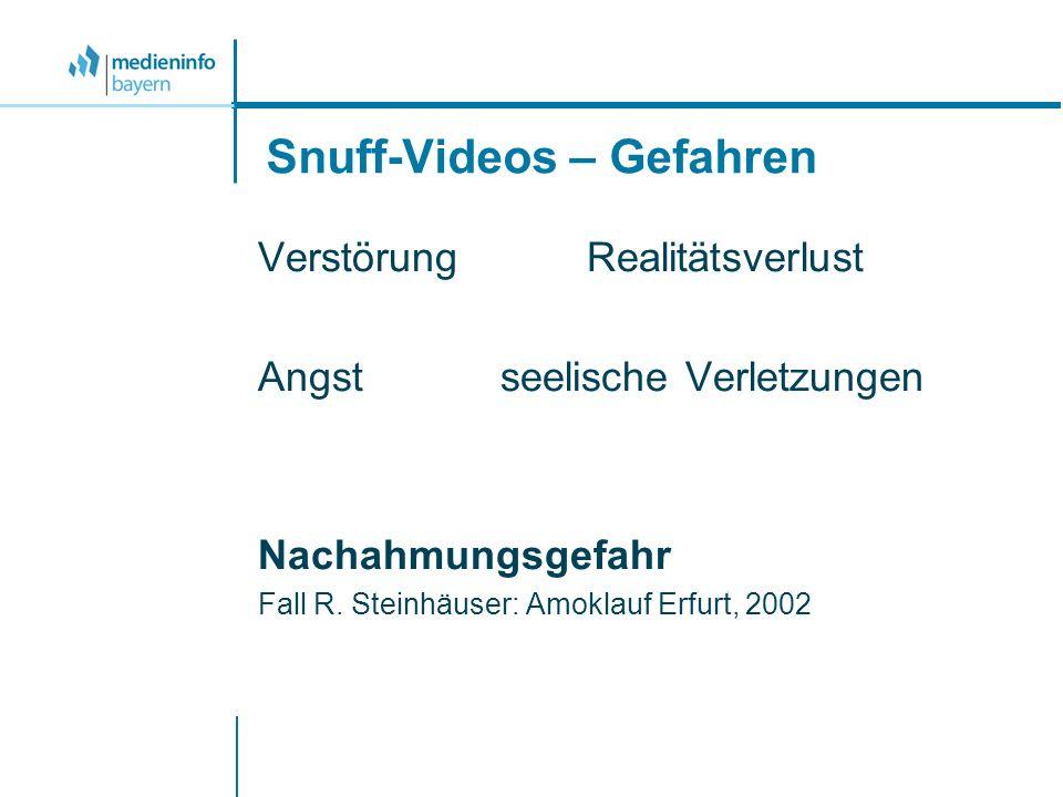 Snuff-Videos – Gefahren