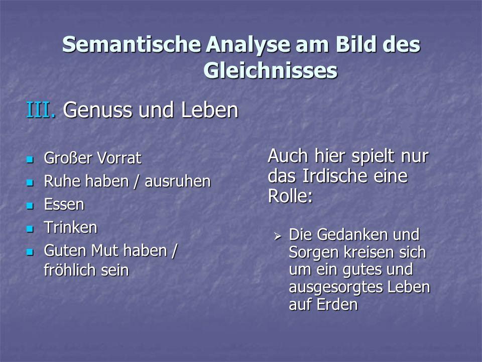 Semantische Analyse am Bild des Gleichnisses