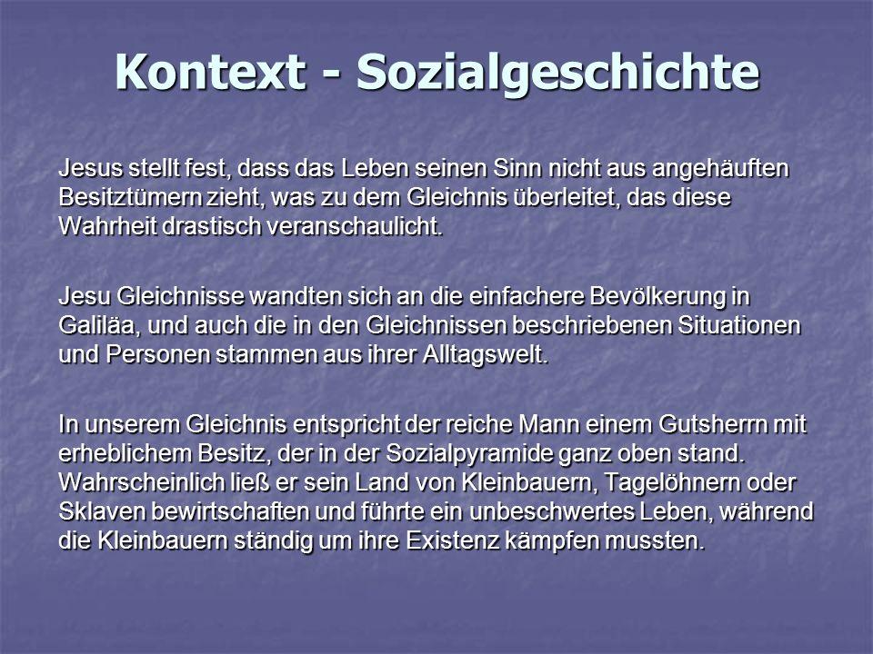 Kontext - Sozialgeschichte