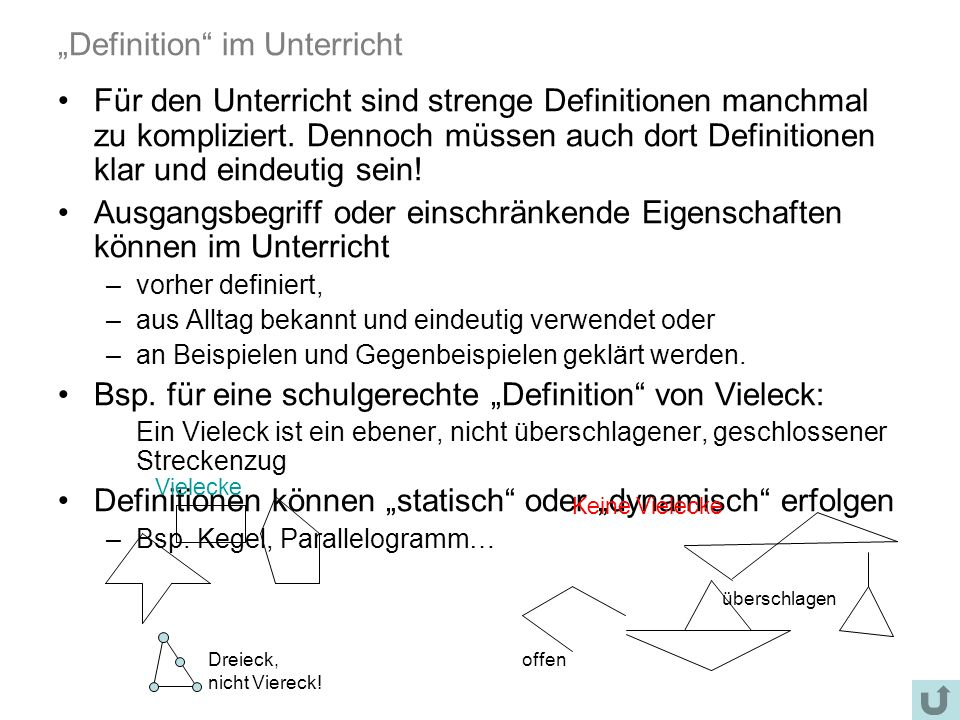 """""""Definition im Unterricht"""