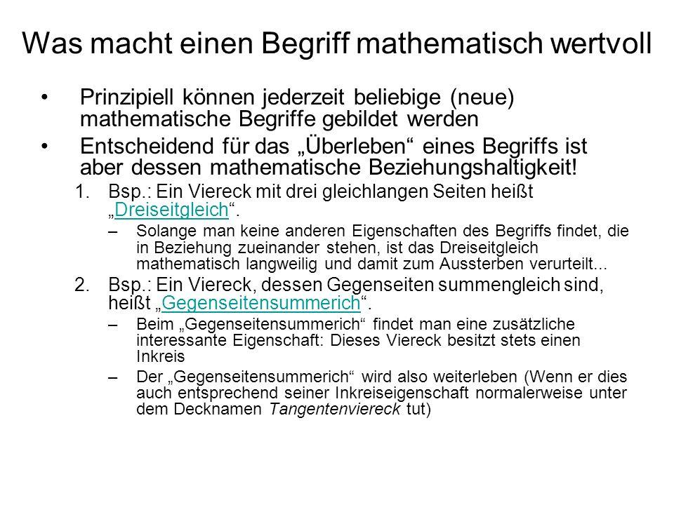 Was macht einen Begriff mathematisch wertvoll