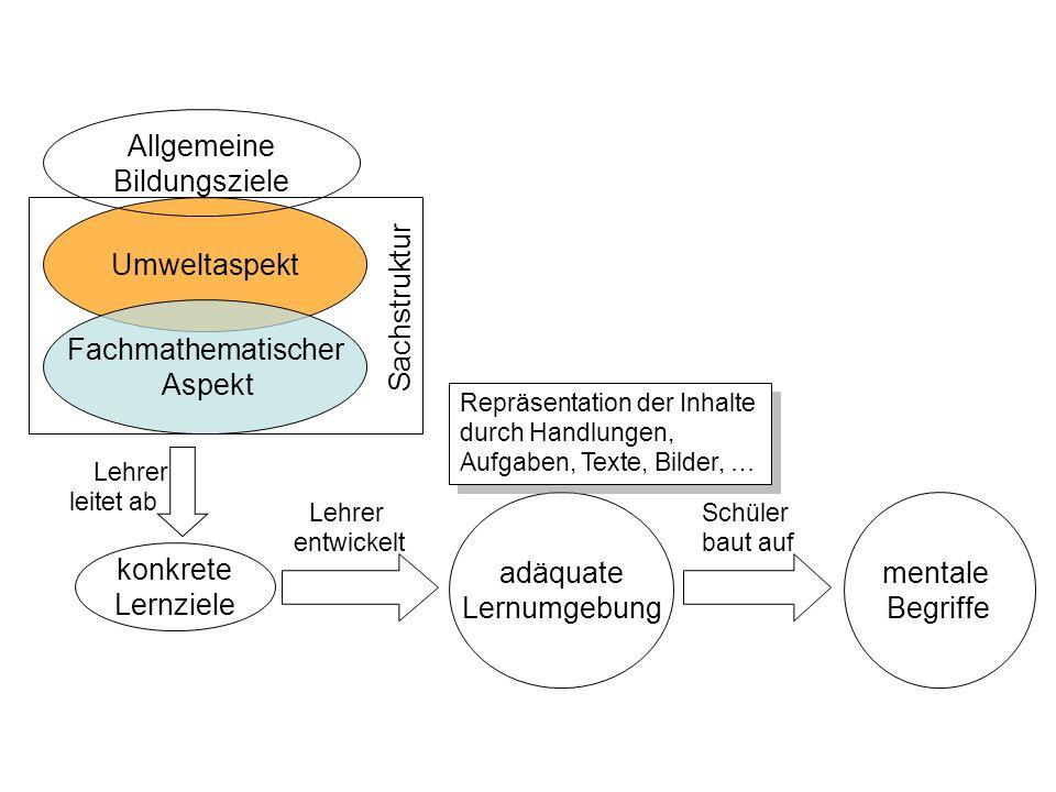 Allgemeine Bildungsziele Sachstruktur Umweltaspekt Fachmathematischer