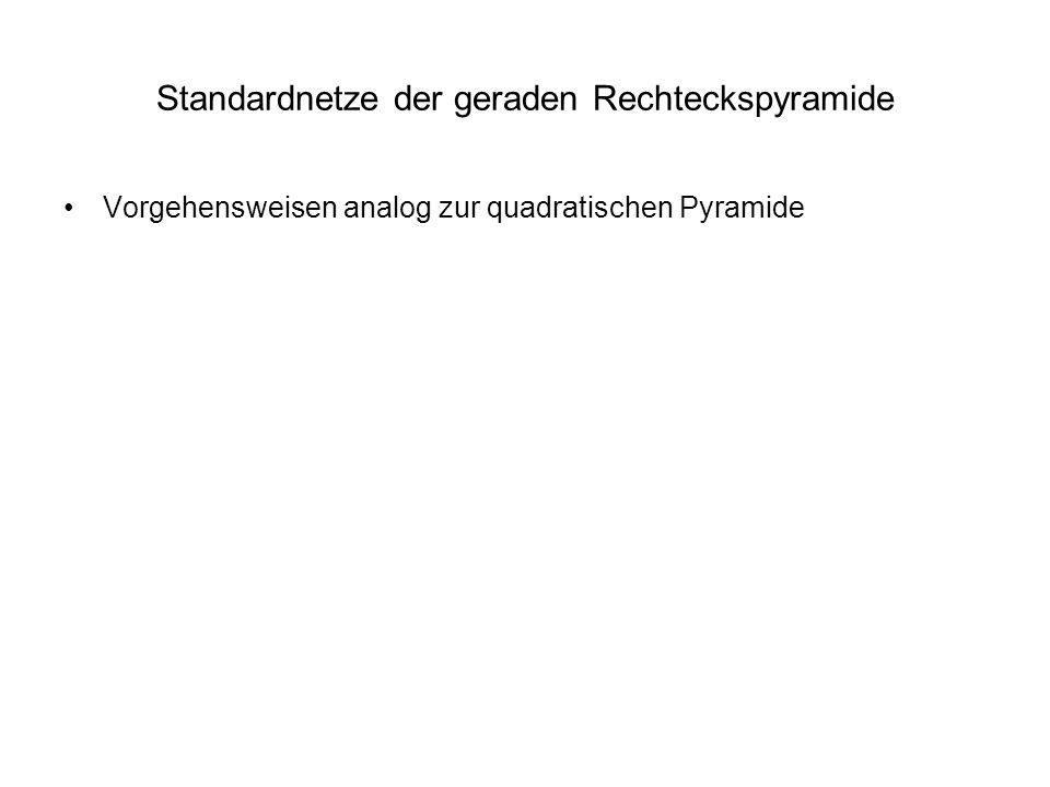 Standardnetze der geraden Rechteckspyramide