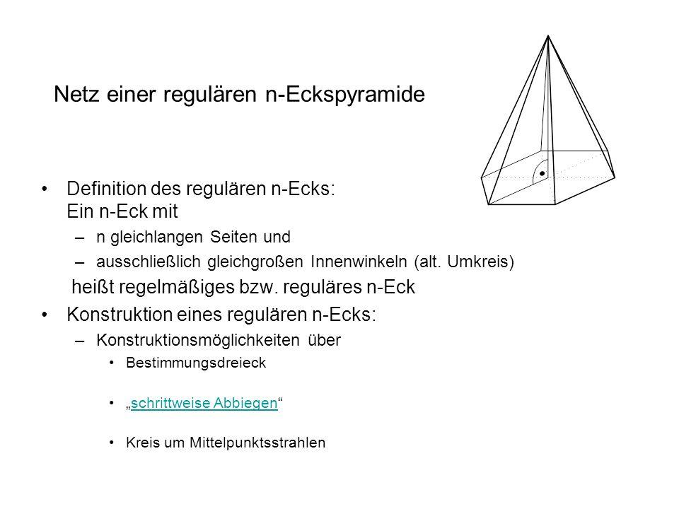 Netz einer regulären n-Eckspyramide