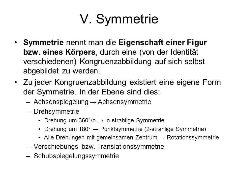 V. Symmetrie
