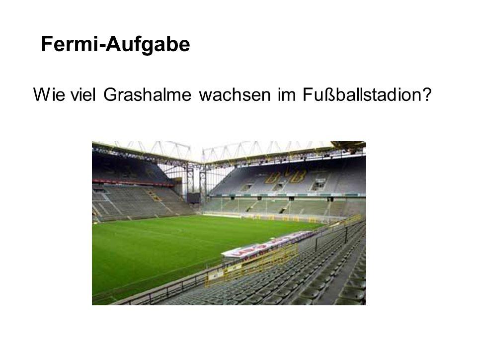 Fermi-Aufgabe Wie viel Grashalme wachsen im Fußballstadion