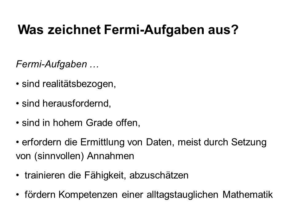 Was zeichnet Fermi-Aufgaben aus