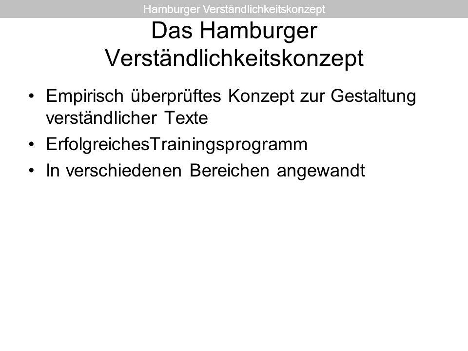 Das Hamburger Verständlichkeitskonzept