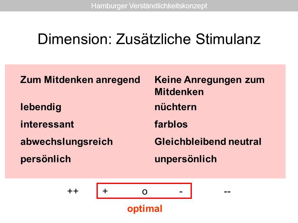 Dimension: Zusätzliche Stimulanz