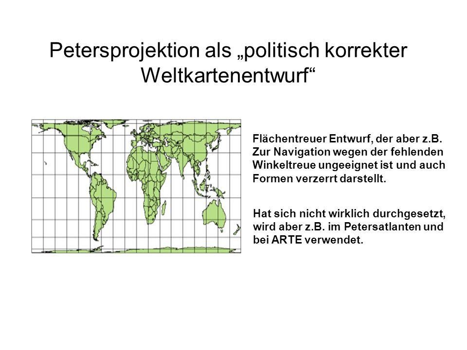 """Petersprojektion als """"politisch korrekter Weltkartenentwurf"""