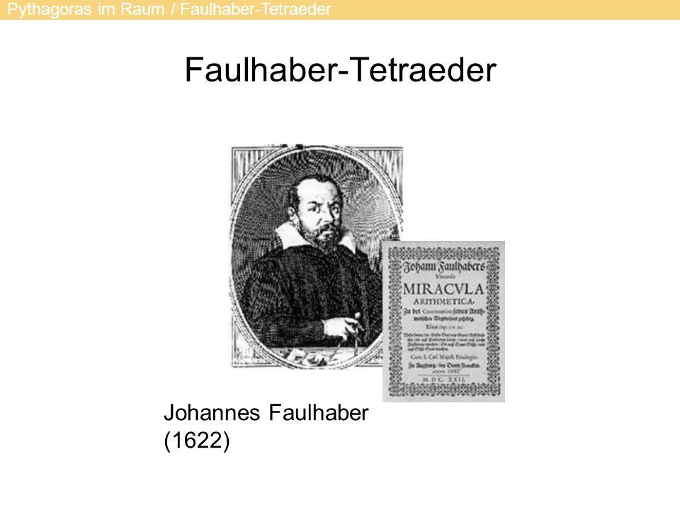 Faulhaber-Tetraeder Johannes Faulhaber (1622)