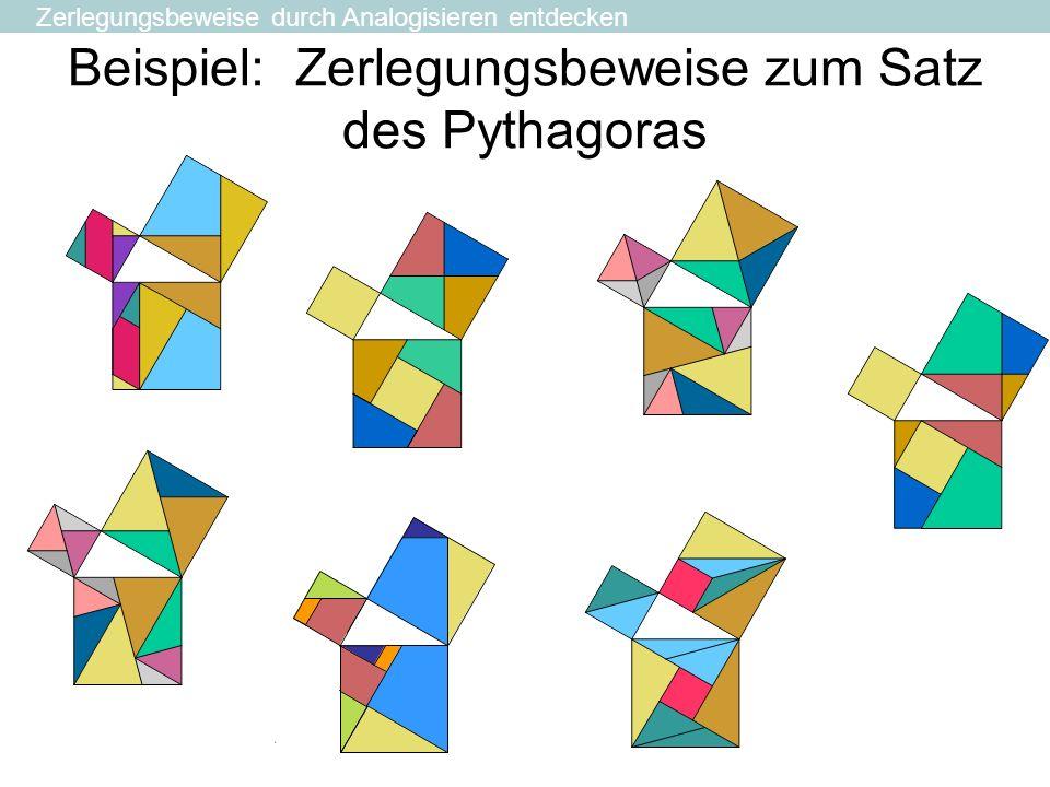 Beispiel: Zerlegungsbeweise zum Satz des Pythagoras