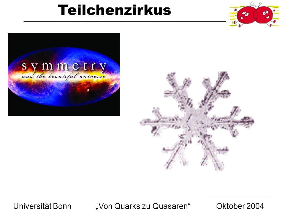 """Universität Bonn """"Von Quarks zu Quasaren Oktober 2004"""