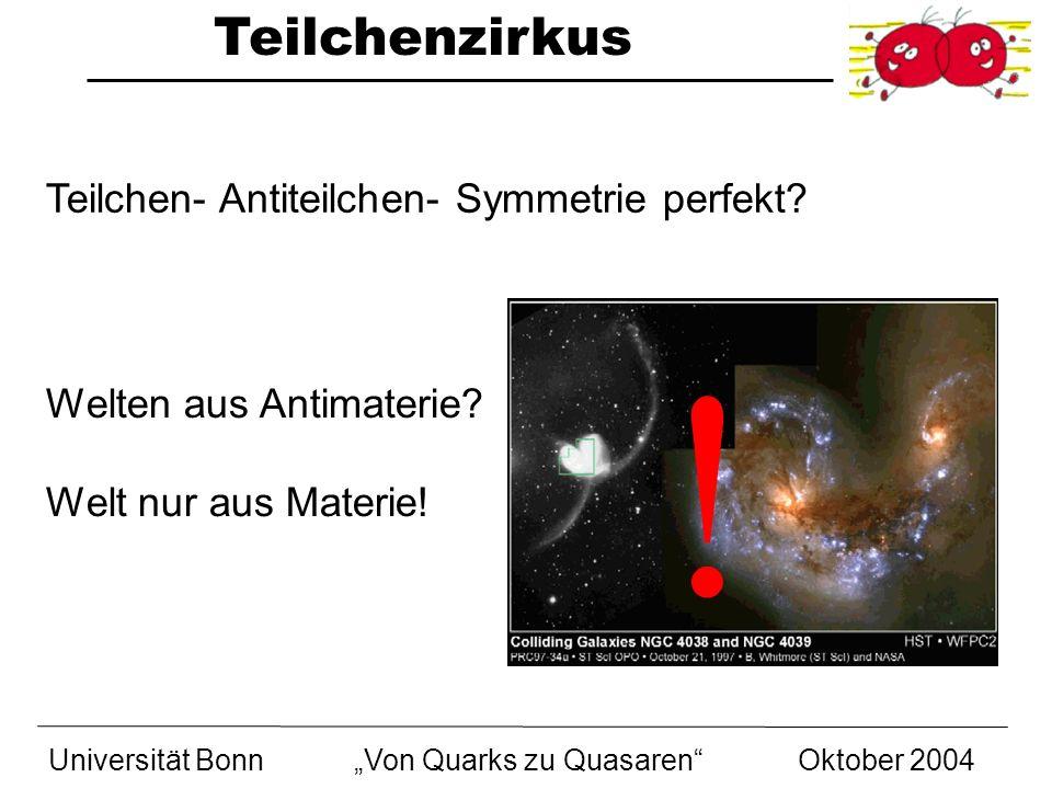 ! Teilchen- Antiteilchen- Symmetrie perfekt Welten aus Antimaterie