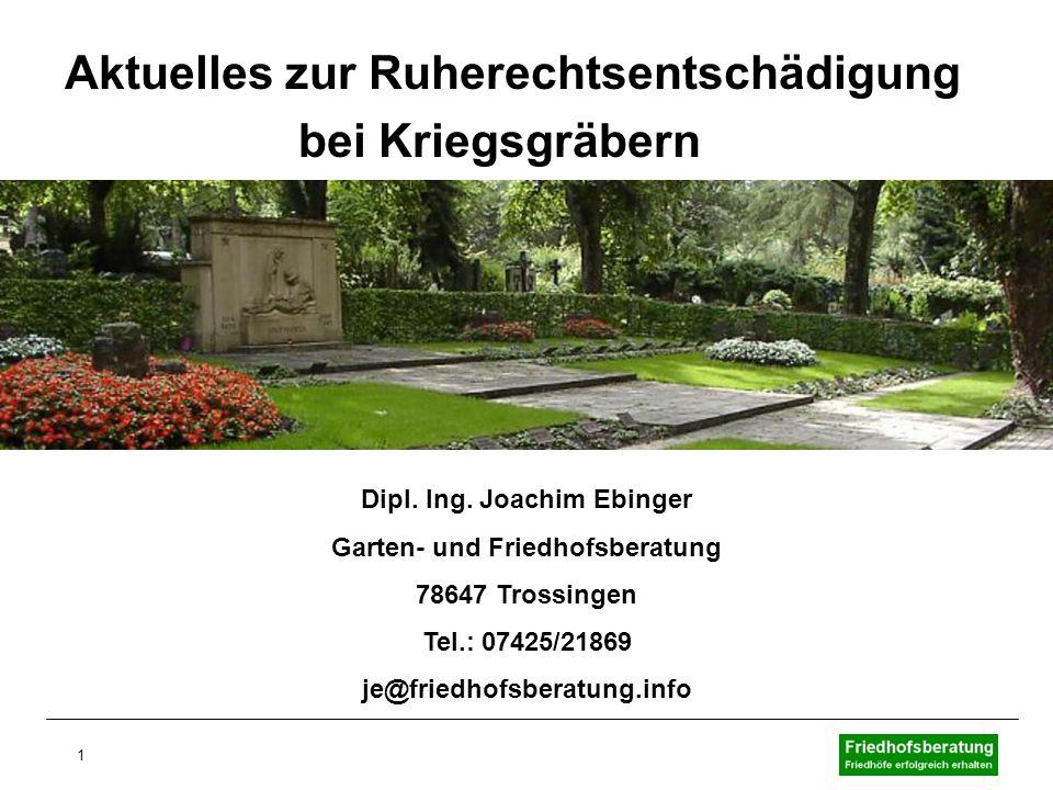 Dipl. Ing. Joachim Ebinger Garten- und Friedhofsberatung