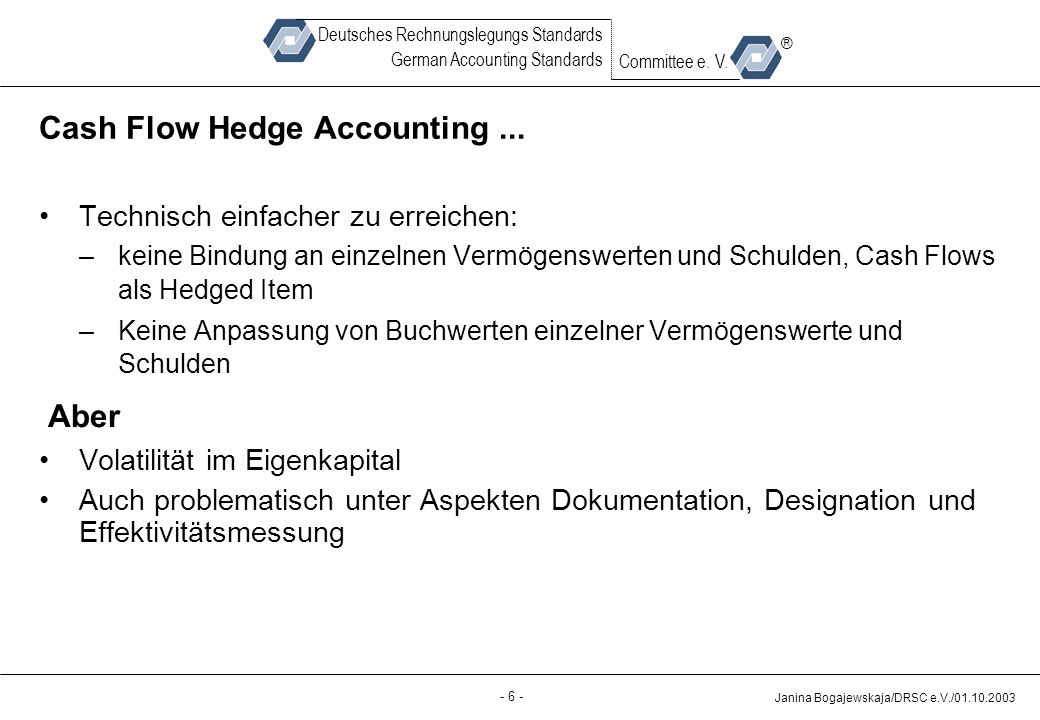 Cash Flow Hedge Accounting ...