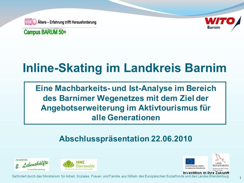 Inline-Skating im Landkreis Barnim Abschlusspräsentation 22.06.2010