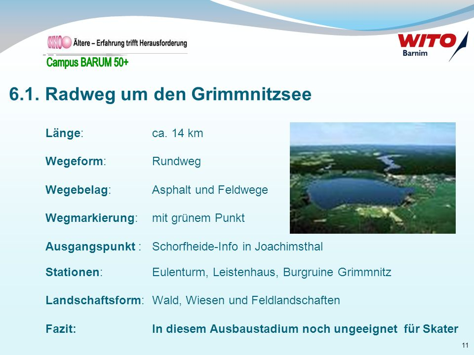 6.1. Radweg um den Grimmnitzsee