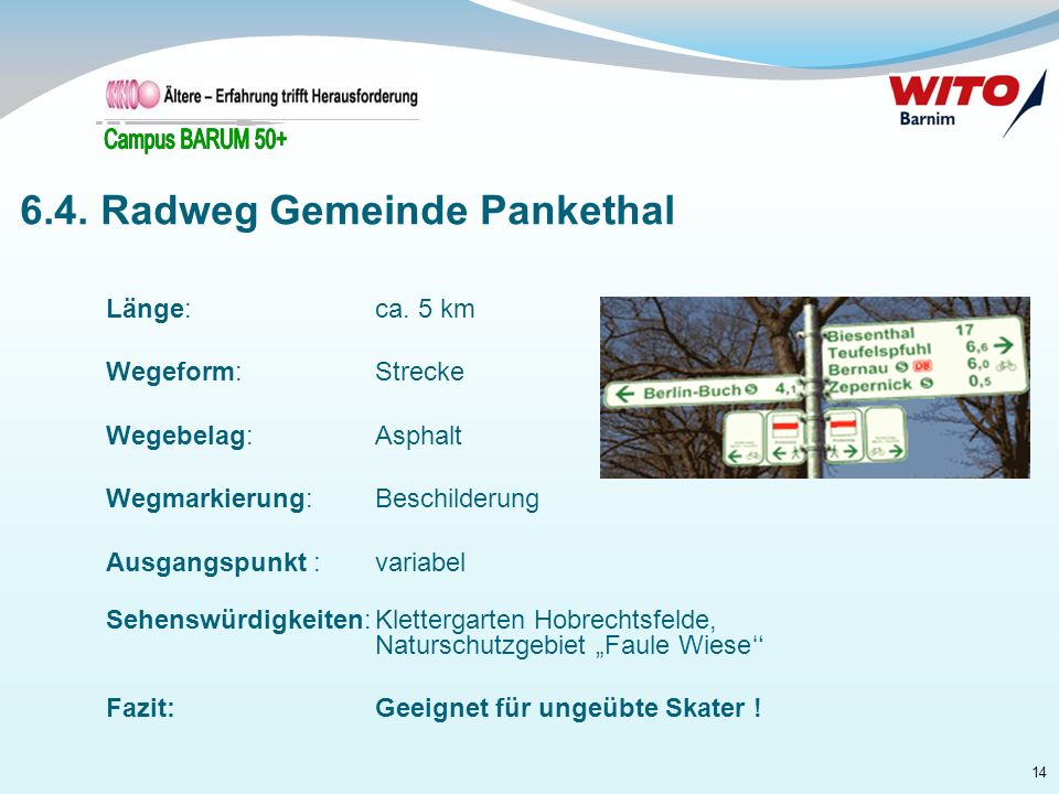 6.4. Radweg Gemeinde Pankethal