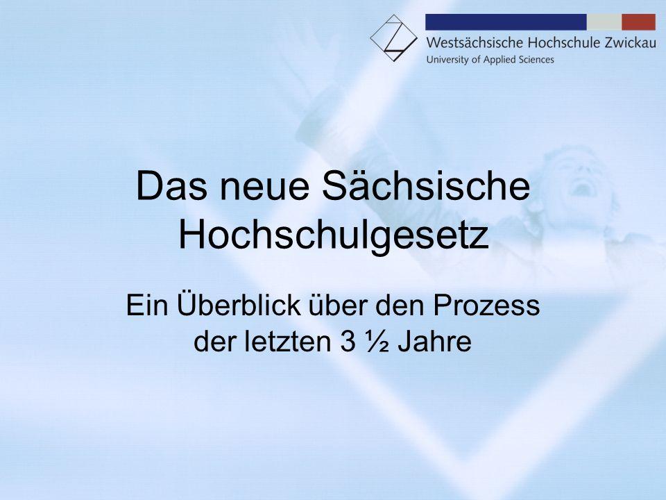 Das neue Sächsische Hochschulgesetz