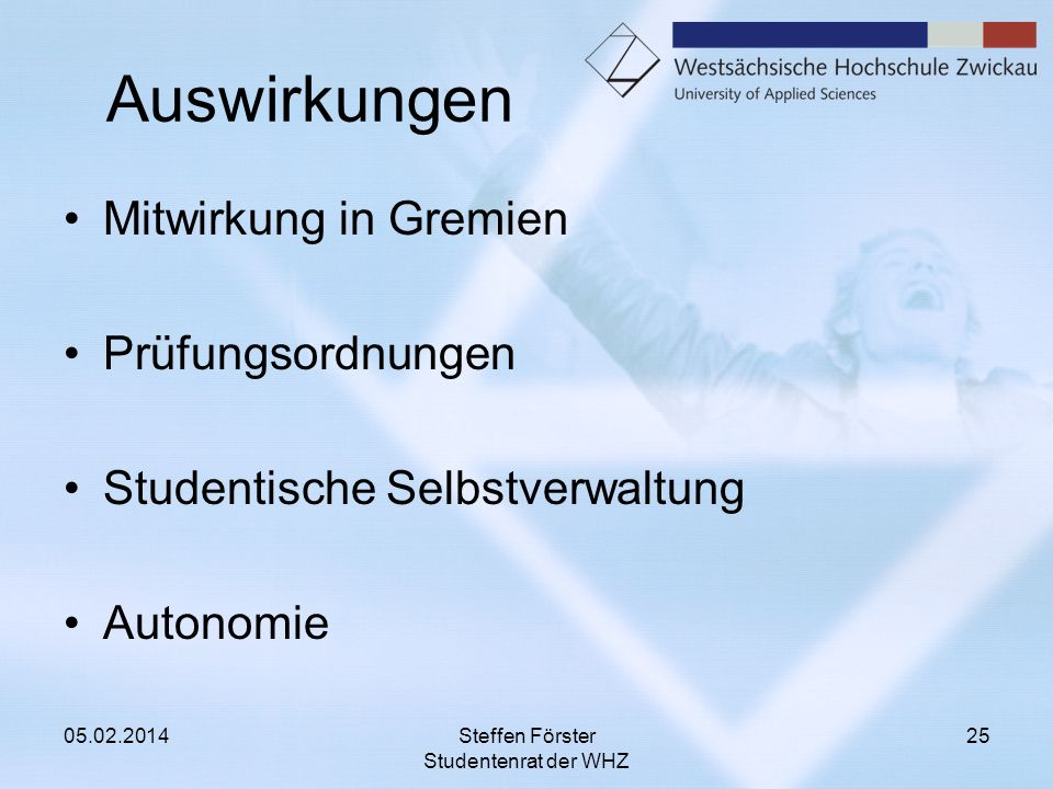 Steffen Förster Studentenrat der WHZ