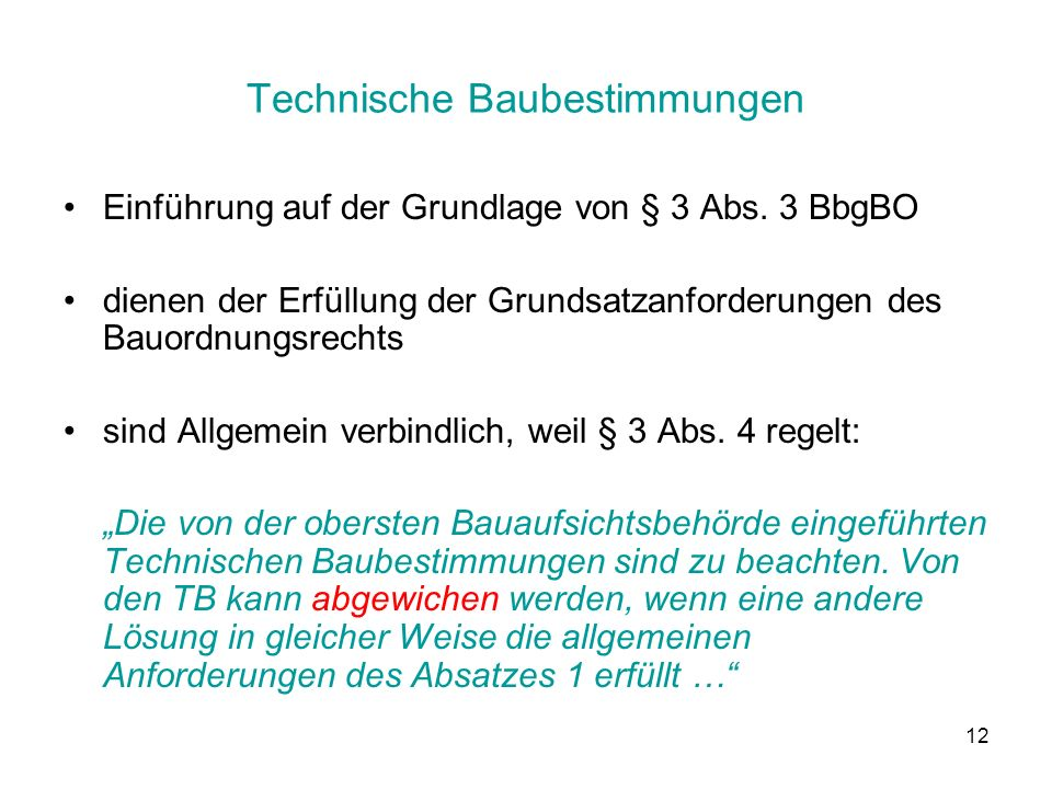 Technische Baubestimmungen