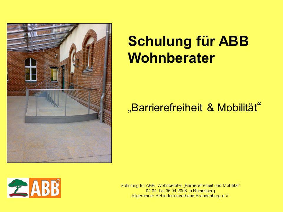 Schulung für ABB Wohnberater